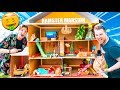 BILLIONAIRE BOX FORT HAMSTER HOUSE!! 📦🐹Pool, Gaming Room, Movie Theatre & More!