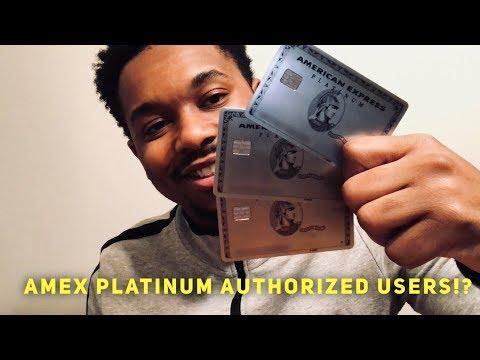Amex Platinum Authorized Users EXPLAINED