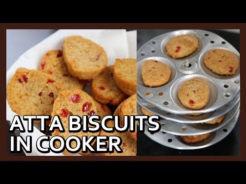 Atta Biscuits in Idli Stand   Whole Wheat Biscuits in Cooker  Biscuit Recipe by Healthy Kadai