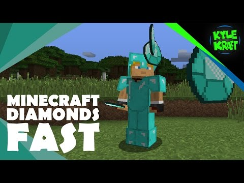 Minecraft | How I Get Diamonds FAST! | (How to get Diamonds Quickly in Survival Minecraft)