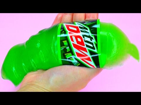 DIY Giant Gummy Mountain Dew Bottle - How To Make Giant Gummy Mountain Dew Bottle At Home (Recipe)