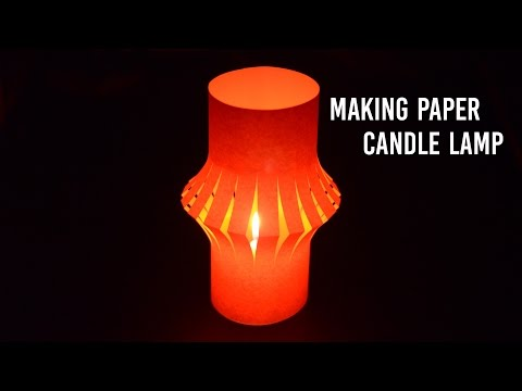 How to make a color paper lamp lantern for candle night dinner. | Easy to make