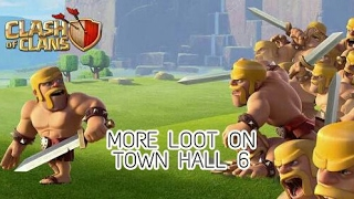How to get loots on Town Hall 6 | more loot | Th 6 base Clash of clans