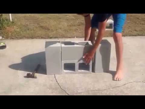 DIY Double Burner Rocket Stove from Fire Bricks / Cinder Blocks. Easy, Cheap Weekend Project