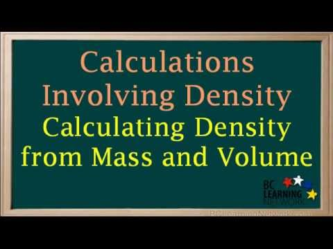 BCLN - Calculating Density from Mass and Volume - Chemistry