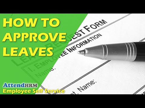 How to approve leaves