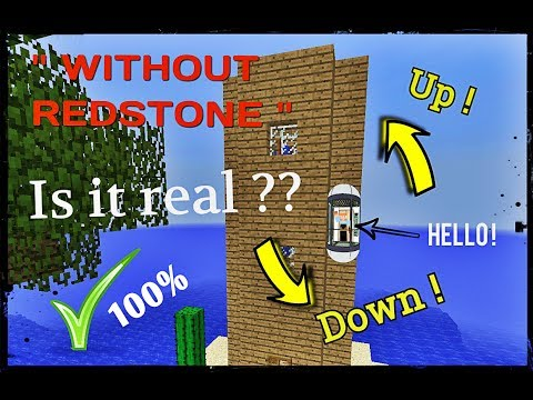 How To Make An ELEVATOR WITHOUT REDSTONE ! ( 100% NOT CLICKBAIT ! )