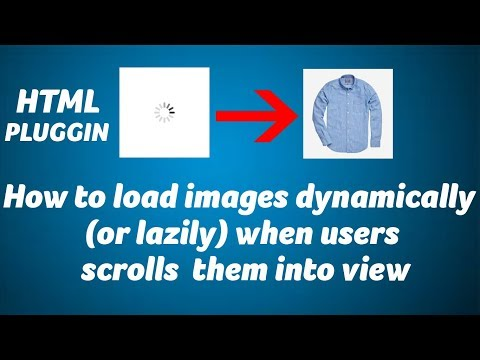 How to load images dynamically (or lazily) when users scrolls them into view
