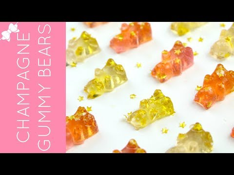 How To Make DIY Homemade Rosé Champagne Gummy Bears (with non-alcoholic option) // Lindsay Ann Bakes