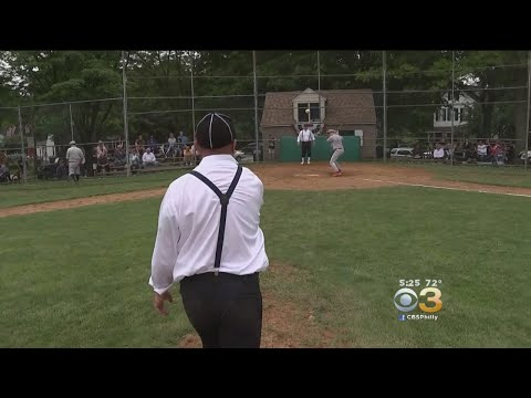 Old School Baseball On Memorial Day At Newtown's Historic Pickering Field