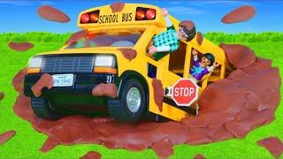 Playmobil City Life - City Action avec le bus scolaire - Film pour enfants - Film for kids