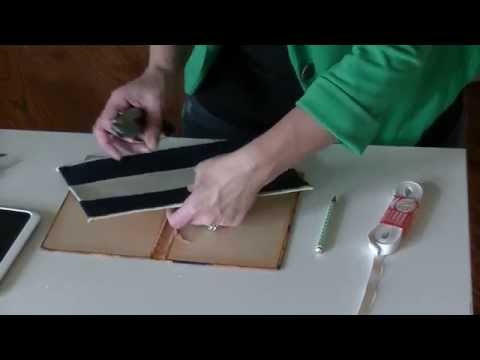 Tablet Cover Tutorial (Using an Old Book)