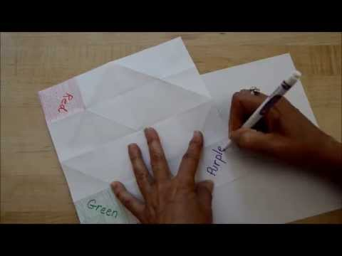 How To Make a Quick & Easy Paper Origami Cootie Catcher Fortune Teller Toy Game