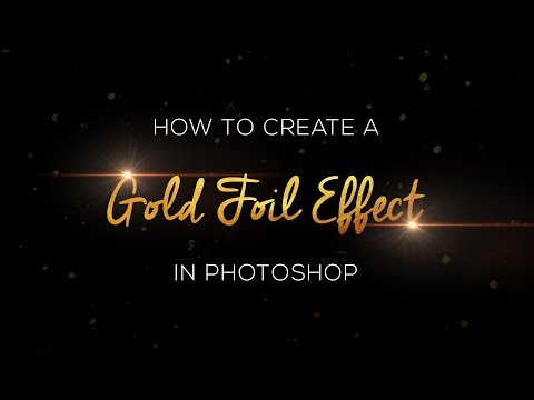Create Gold Foil Text Effect in Adobe Photoshop CC Tutorial