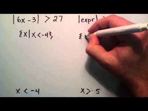 How to Solve Absolute Value Inequalities ( Example 3 ) , Intermediate Algebra , Lesson 53