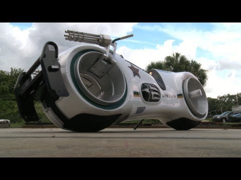 Take a ride on a real Tron bike