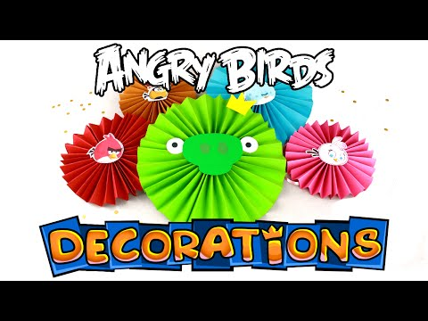 DIY Angry Birds Decorations - Paper Rosettes