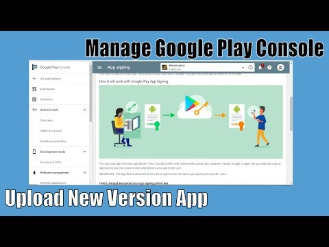 How to Manage/update new version Android App on google console