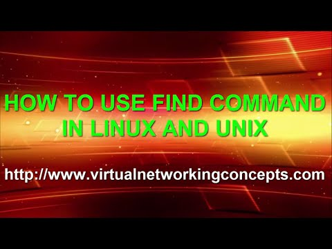 HOW TO USE FIND COMMAND IN LINUX AND UNIX
