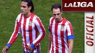 La Liga | Atlético de Madrid - Osasuna (3-1) | 28-10-2012 | J9 | Resumen