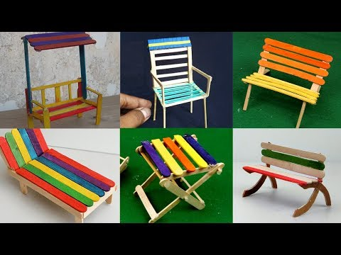 10 Popsicle Stick Chairs Compilation - How To Make | Easy and Quick Crafts ideas