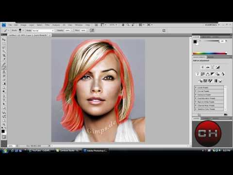 Change Hair Color - Photoshop CS4