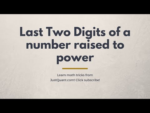 Calculating Last Two Digits of a Number Raised to Power