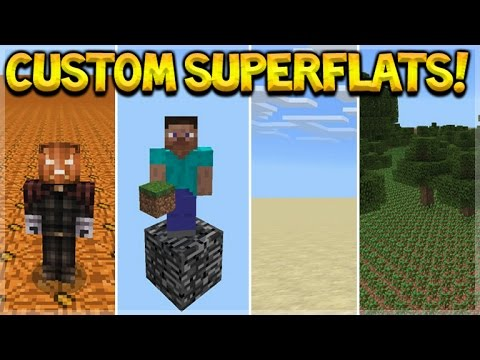 CUSTOM SUPERFLAT MAP PACK! Minecraft Pocket Edition - Custom Superflat Map Pack (Pocket Edition)