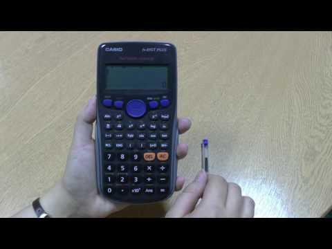 Calculator Tutorial 9: Square roots on a scientific calculator