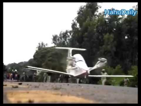 Ethiopia's young man handmade airplane and test flight - July, 2015