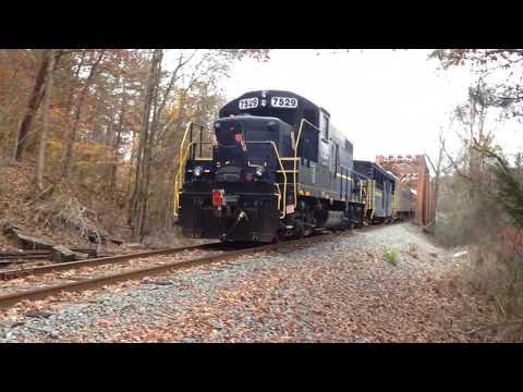 L&N Excursion Train from McCaysville to Blue Ridge GA 11-12-2017