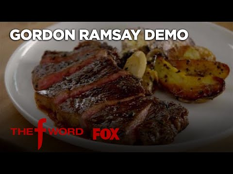 Gordon Ramsay Demonstrates How To Make New York Strip Steak   Season 1 Ep. 4   THE F WORD