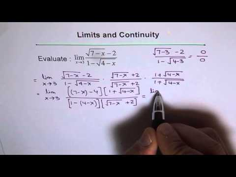 Limit Rationalize Both Numerator and Denominator