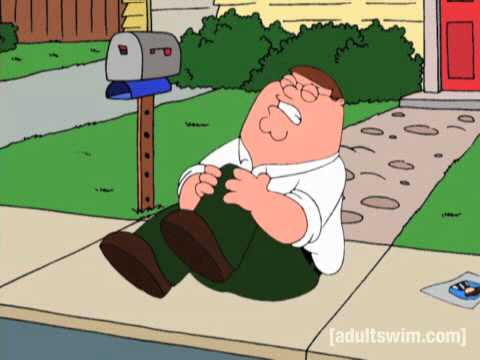 Peter Falls and Hurts His Knee, Family Guy S02E20
