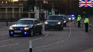 World Leaders Being Escorted in convoy to Buckingham Palace and around London -NATO 2019.