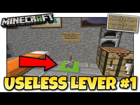 Minecraft - USELESS LEVER #1 [ Redstone Tutorial ] Works on ALL Versions !