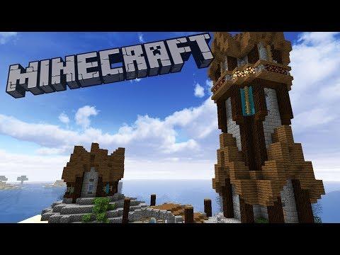 Working Minecraft Lighthouse Build