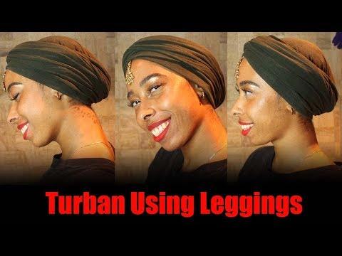 Turban Using Leggings | Protective Style