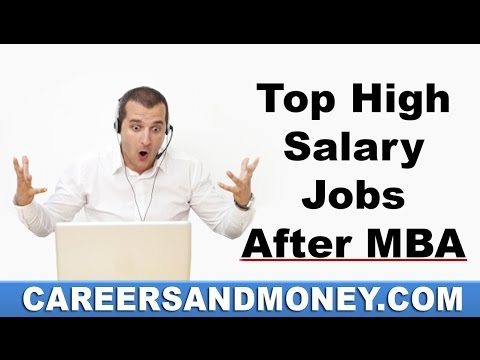 Top High Salary Jobs after MBA