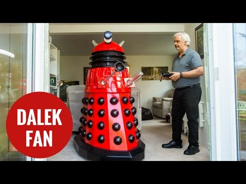 A Doctor Who fanatic builds two full-size Daleks - in his garden shed