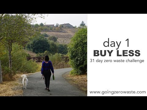 Day 1: Buy Less / 31 Day Zero Waste Challenge