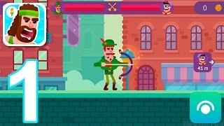 Bowmasters - Gameplay Walkthrough Part 1 - Duels: 1-9 (iOS)