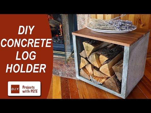 DIY Concrete Log Holder - Firewood Holder