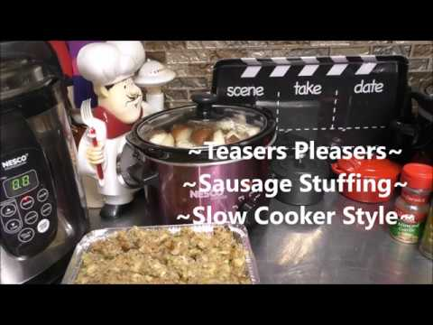~Sausage Stuffing       Slow Cooker Style~
