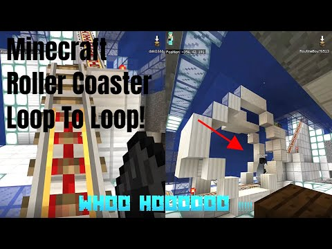 Adding Loop to Loop to My Minecraft Roller Coaster...With Bloopers!