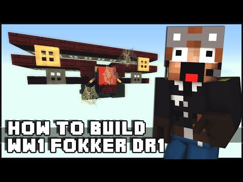► Minecraft : How to Make - WW1 Triplane