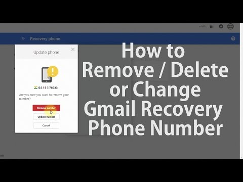 How to Change or Remove Gmail Recovery Phone Number