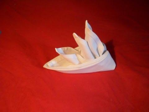 How To Fold Napkins - Bird Of Paradise (Napkin Folding Video)