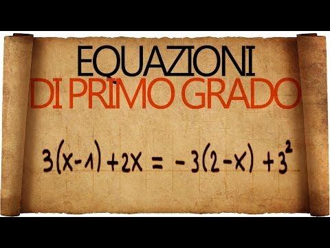 Equazioni di primo grado e relative disequazioni