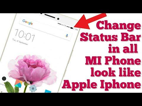 change status bar in miui 8 or miui 9 look like apple ios 11